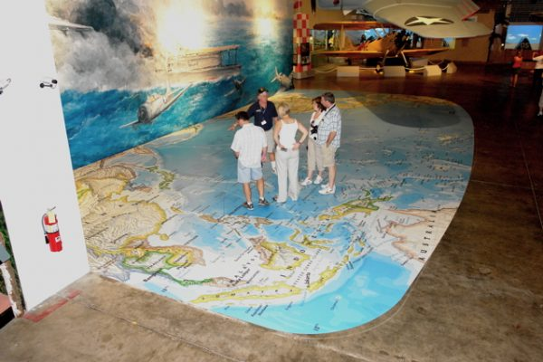 52 Foot Floor Map, Pacific Ocean supplied by National Geographics