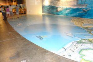 52 ft. ocean map